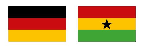 Flag Germany Ghana